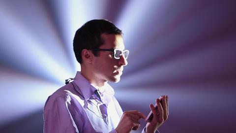 Businessman Looking at His Phone Footage