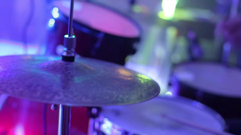 Anonymous Drummer Drumming on Stage Footage