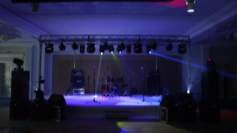 Colorful Lights in a Concert Footage