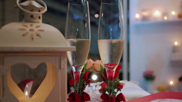 Champagne Pouring on Table Footage