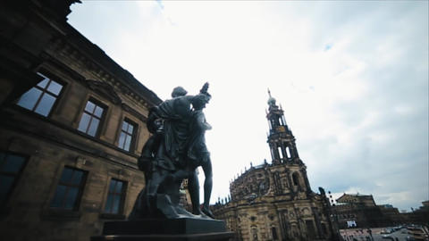 Histoirical center of the Dresden Old Town Footage