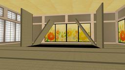 畳が開いてアルファチャンネル Animation