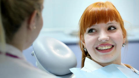 Health And Dental Care, Woman At Work As Dentist And Doctor, Meeting With Assist stock footage