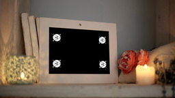 Mockup Video Displays Framework for Phototography are on the Shelf 影片素材