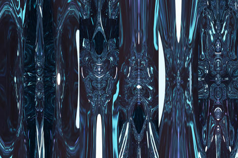 Fantastic blue shining space. Abstract blue background Photo