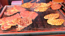 Grilled Meat, Barbecue Live Action