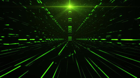 3D Green Sci-Fi Tower of Babel Tunnel VJ Loop Background Animation