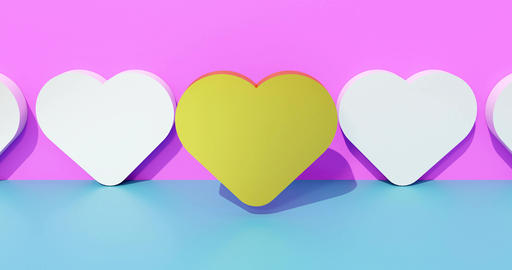 A heart of gold symbolizing a dating service. Advertising concept for the search Animation