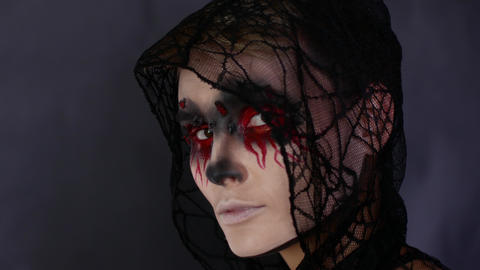 4k Halloween Horror Close-up Footage