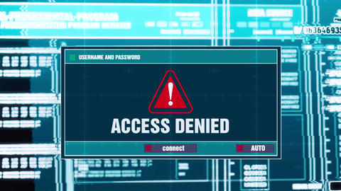 29. Access Denied Warning Notification on Digital Security Alert on Screen Footage