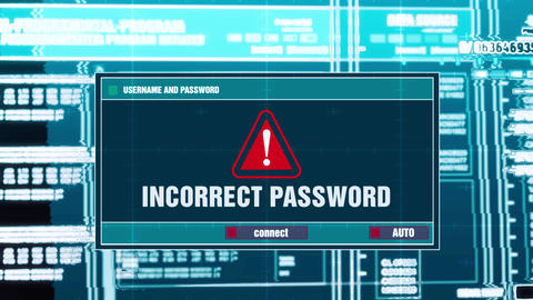 49. Incorrect Password Warning Notification on Digital Security Alert on Screen GIF