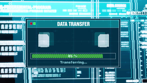 86. Data Transfer Progress Warning Message Transfer Complete Alert On Screen Live Action