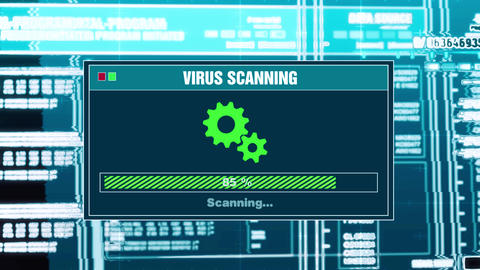 92. Virus Scanning Progress Warning Message Threat Detected Alert On Screen Live Action