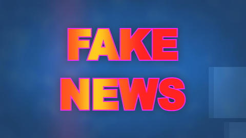 dynamic background animation of the Fake News title page Footage