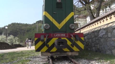 Diesel Locomotives Waiting at station ビデオ