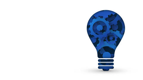 modern style creative technology concept blue gears light bulb Animation