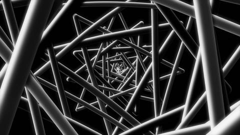 Black Wire - Stylish Geometric Video Background Loop Animation
