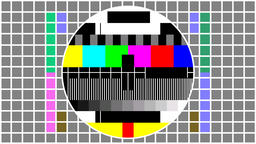Television screen color test pattern フォト