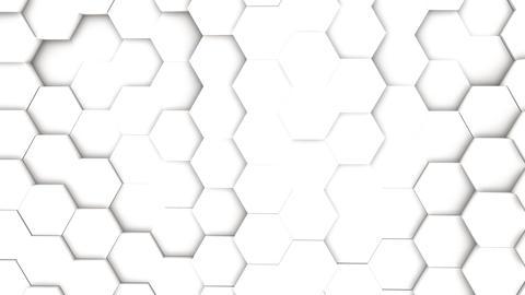 light bright clean minimal hexagonal grid pattern Footage