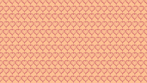 Abstract Line Love Heart shape rotate moving illustration pink color, valentine Animación