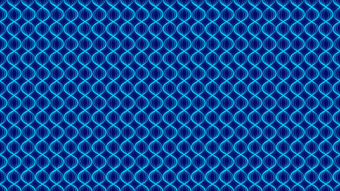 Abstract Line glowing wave zigzag rotate moving illustration blue color on dark Animation