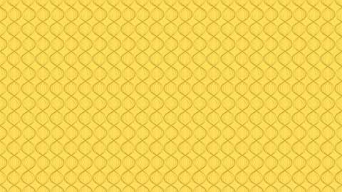 Abstract Line wave zigzag rotate moving illustration brown color on yellow Animation