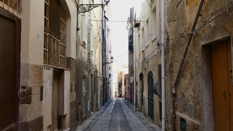 Deserted alley in italian old city Footage