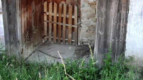entrance of old ruined house Live Action