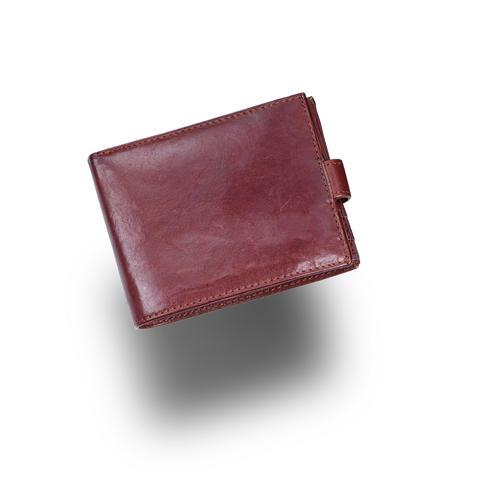 closed old leather purse Photo