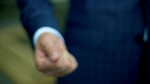 Man Reveals Hand Which Includes a Wedding Ring Footage