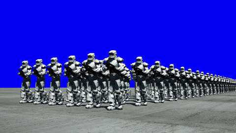Space Opera: Marching Troopers (Blue Screen) Animation