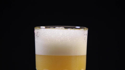 Cold Beer into Glass Footage