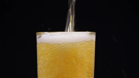 Faceted Glass with Beer Live Action