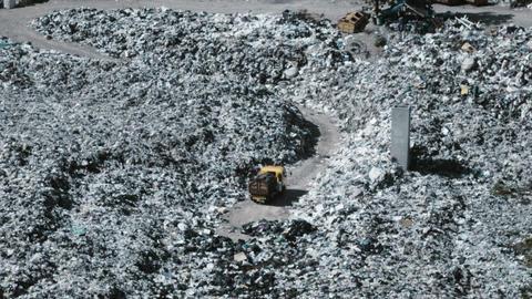 trash rubbish garbage dump bioreactor Footage