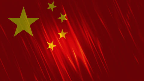 China Flag Loopable Background Animation