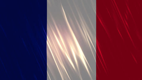 France Flag Loopable Background Animation