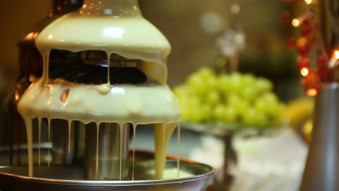 Delicious wedding reception candy bar dessert table of the celebration hall Live Action