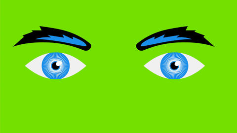 Human Eyes Watching Retro 2D Animation Animation