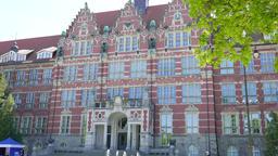 GDANSK, POLAND - MAY 2018: The Gdansk University of Technology Main Building Footage