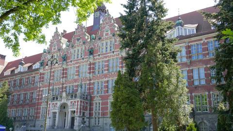 GDANSK, POLAND. The Gdansk University of Technology Main Building GIF