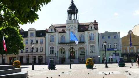 WEJHEROWO, POLAND. The Town Hall And The Jakub Wejher Square In The Old Town. 02 Live Action