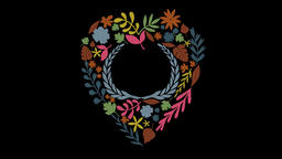 Floral Wreath Set (3) Animation