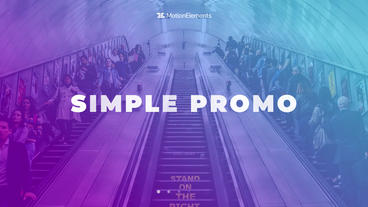 Simple Promo Plantilla de After Effects
