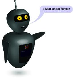 Chatbot say users What can I do. Vector ベクター