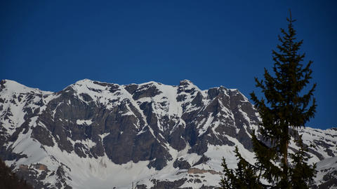 Ceresole (Torino), Italy - April 5, 2012: glimpse of the national park of the grand paradise Footage
