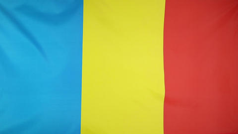 National Flag Of Romania stock footage