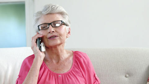 Grandmother having a call Live Action