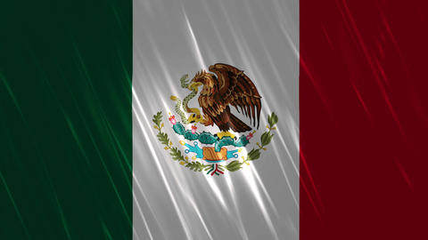 Mexico Flag Loopable Background stock footage