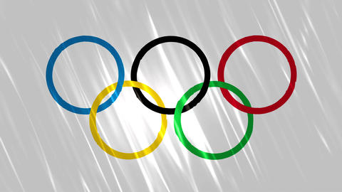 Olympics Flag Loopable Background Animation