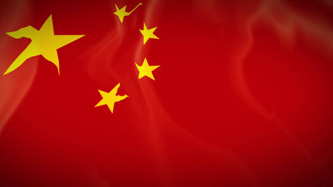 Waving Flag of China Footage